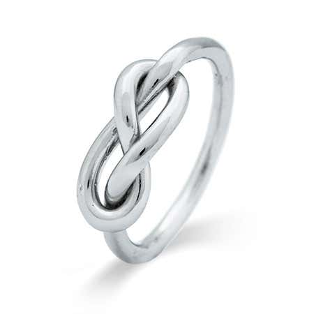 display slide 1 of 3 - Infinity Knot Sterling Silver Ring - selected slide