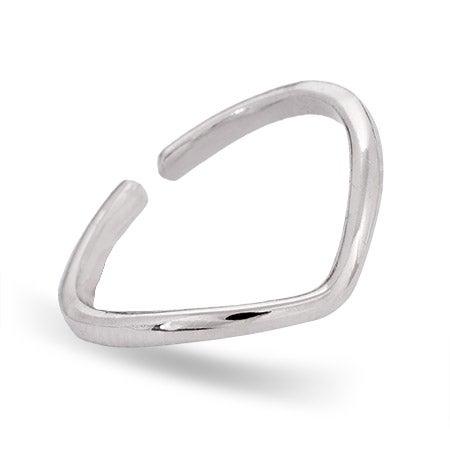 Sterling Silver Chevron Midi Ring | Eve's Addiction®
