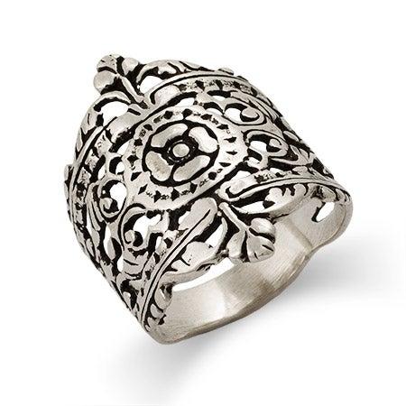 Moroccan Filigree Design Silver Ring | Eve's Addiction®