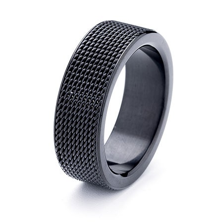 Engravable Mesh Black Stainless Steel Band | Eve's Addiction®