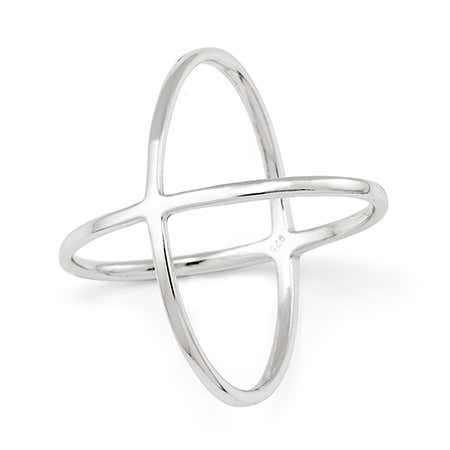 Double X Sterling Silver Ring - The It Ring