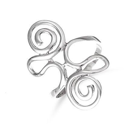 Sterling Silver Swirling Ring