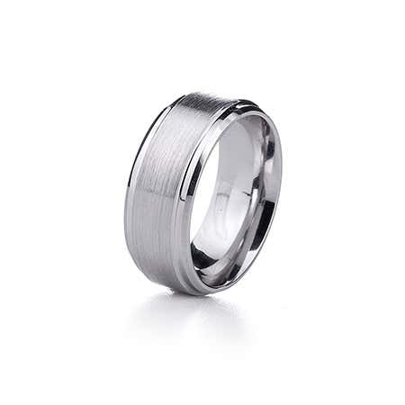Men's Brushed Finish Cobalt Ring
