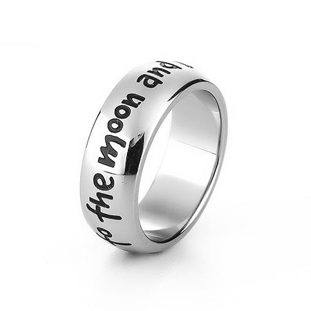 I Love You To The Moon and Back Engravable Ring