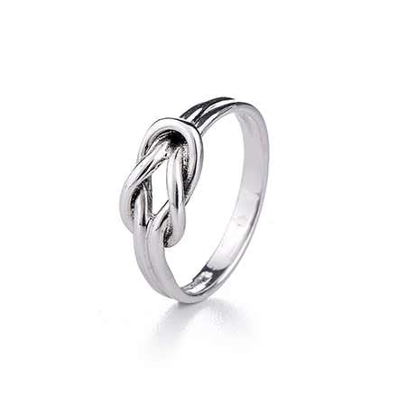 Sterling Silver Petite Love Knot Ring