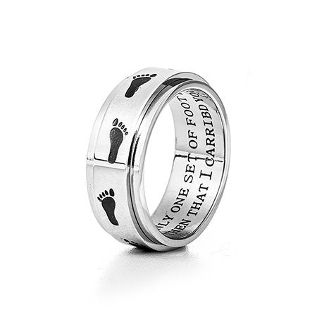 Footprints in the Sand Spinner Ring   Eve's Addiction®