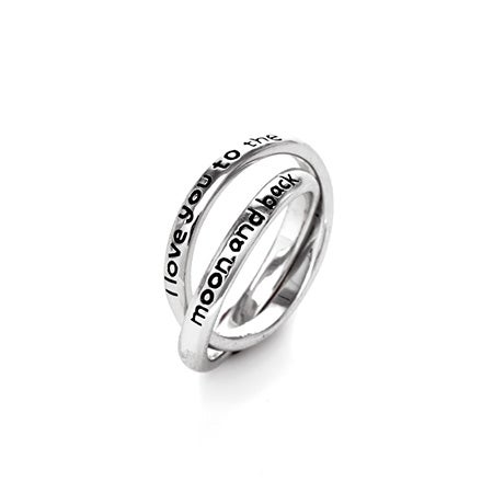 I Love You To The Moon and Back Rolling Rings   Eve's Addiction®