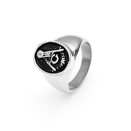 Men's Masonic Ring in Stainless Steel | Eve's Addiction®