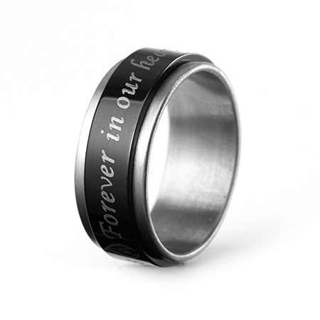 Forever In Our Hearts Bereavement Spinner Ring