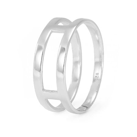 Sterling Silver Dual Bar Ring | Eve's Addiction®