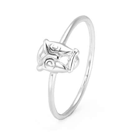 Petite Owl Stackable Ring in Sterling Silver   Eve's Addiction