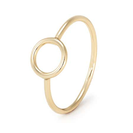 Petite Circle Ring - Gold Plated over Sterling Silver