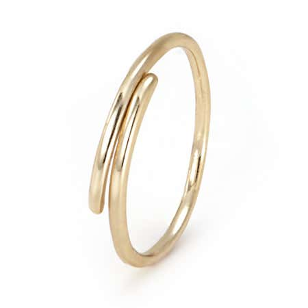 Gold Plated Dainty Crossover Ring
