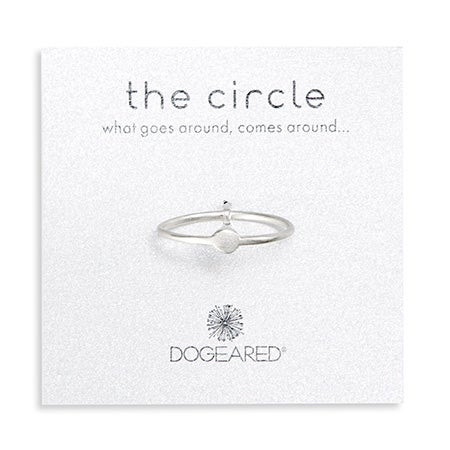 Dogeared Sterling Silver Circle Ring