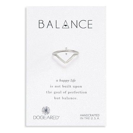 Dogeared Sterling Silver Balance V Ring