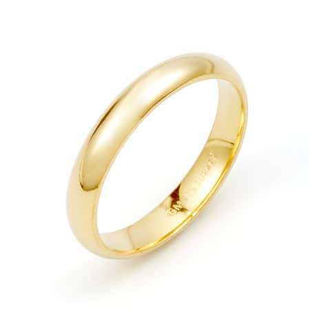 Classic 3mm Gold Plated Wedding Band