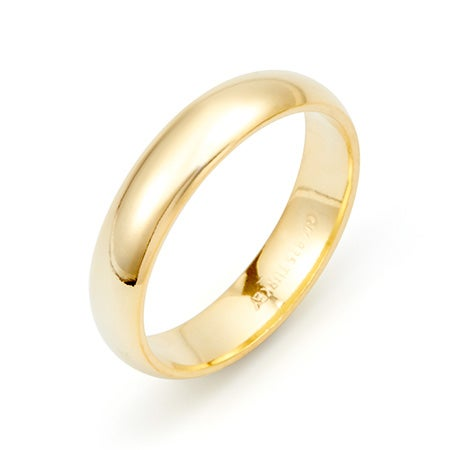 Classic 4mm Gold Plated Wedding Band