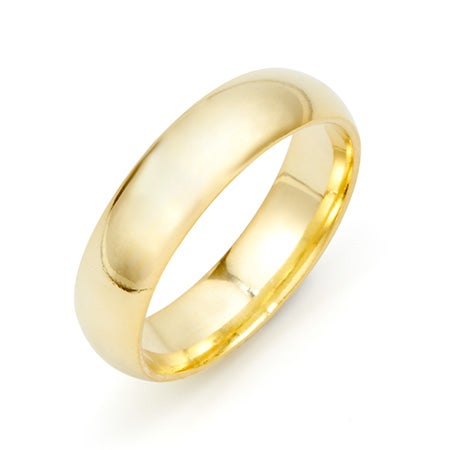 Classic 5mm Gold Plated Wedding Band
