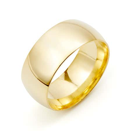 Classic 8mm Gold Plated Wedding Band