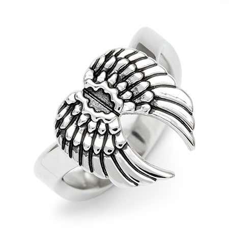 Thumb Angel Wings Ring in Stainless Steel Online