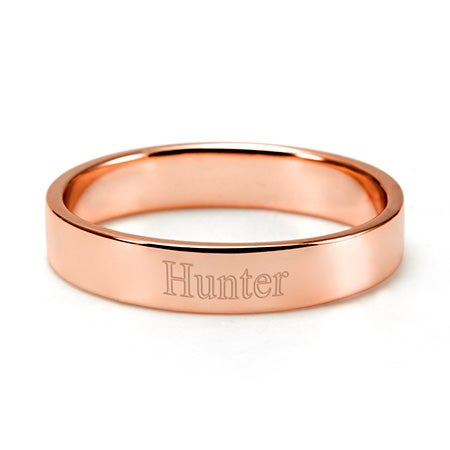 Custom Engraved Rose Gold Stackable Mother's Ring