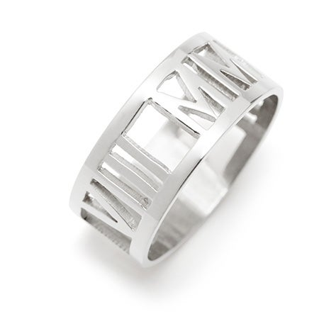 925 Sterling Silver Roman Numeral Ring | Eves Addiction