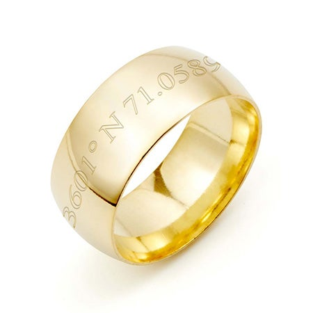 Unisex Gold Plated Coordinate Ring For Men And Women