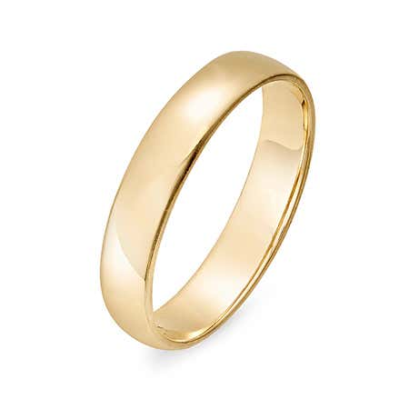 Engravable 14k Gold Wedding Band