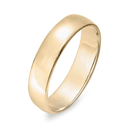 Engravable 14k Gold 5mm Wedding Band | Eve's Addiction®