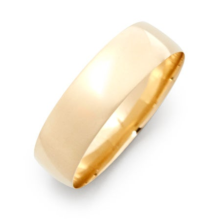 Engravable 14k Gold 6mm Classic Wedding Band | Eve's Addiction®