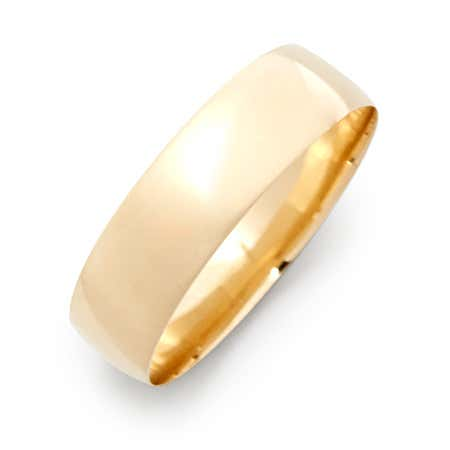 Engravable 14k Gold 6mm Classic Wedding Band