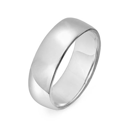 6mm Engraved Wedding Band 14k White Gold | Eve's Addiction®
