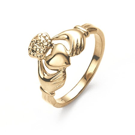 14K Gold Claddagh Wedding Ring | Eve's Addiction®
