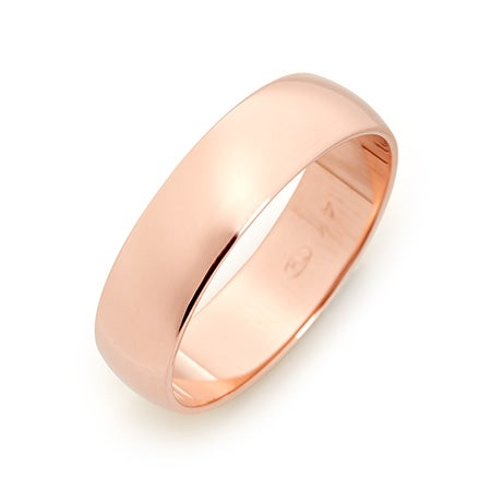 5mm Custom Rose Gold 5mm Wedding Band For Men And Women
