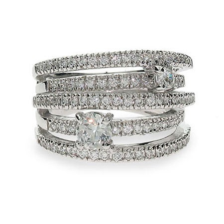 Sterling Silver CZ Highway Ring | Eve's Addiction®