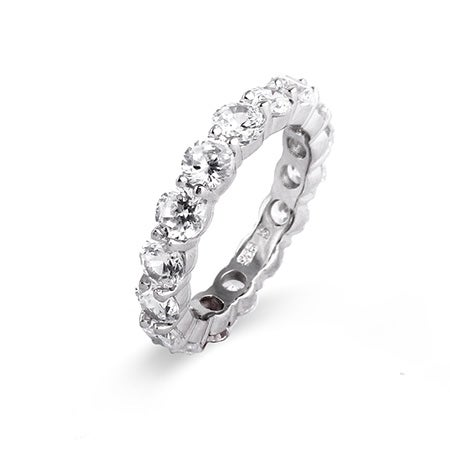 Celebrity Style Replica CZ Engagement Band | Eve's Addiction