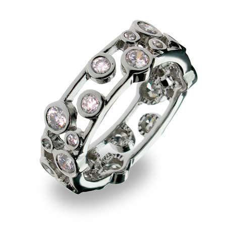 Designer Style Cubic Zirconia Bubbles Band
