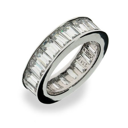 Sterling Silver Diamond CZ Glamour Band | Eve's Addiction®