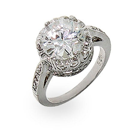 Crown Diamond Signity Star Cut CZ Ring | Eve's Addiction®