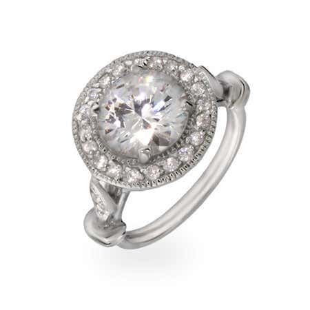 Regal Round Cubic Zirconia Engagement Ring