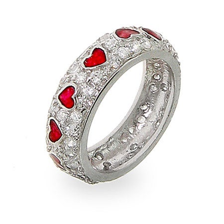 Sterling Silver Queen of Hearts CZ Ring | Eve's Addiction®
