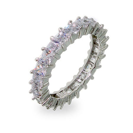 Sparkling Lavender Princess Cut Eternity Band | Eve's Addiction®