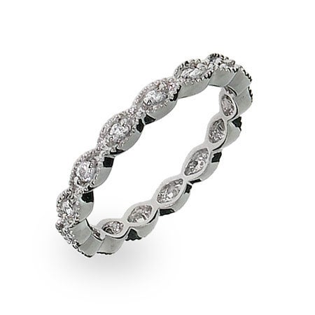 Victorian Style Stackable CZ Band | Eve's Addiction®