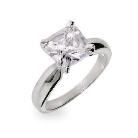 2 Carat Princess Cut Solitaire Cubic Zirconia Ring