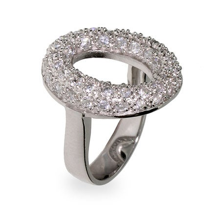 Designer Style Pave CZ Sevillana O Ring | Eve's Addiction®
