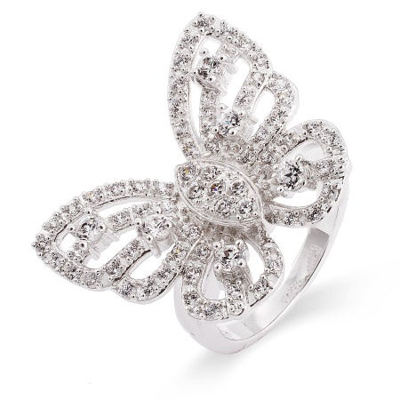 Celebrity Inspired CZ Butterfly Ring | Eve's Addiction®