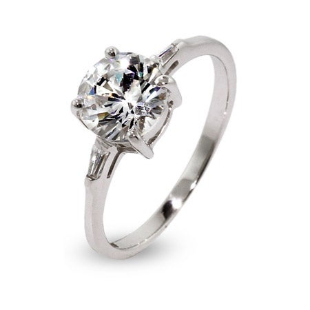 Brilliant Round CZ Engagement Ring | Eve's Addiction®