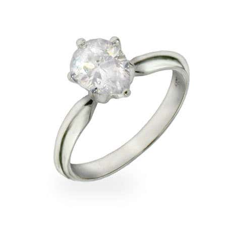 Pear Cut Solitaire CZ Ring