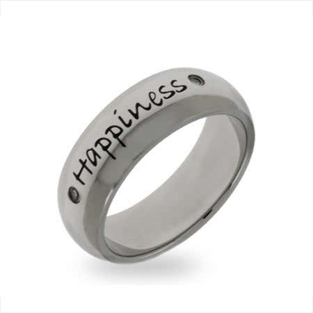 Stainless Steel Happiness Friendship Ring | Eve's Addiction®