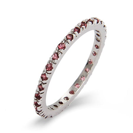 Dainty Alexandrite CZ Stackable Eternity Band | Eve's Addiction®